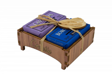 Drvena kutijica lavanda-borovnica